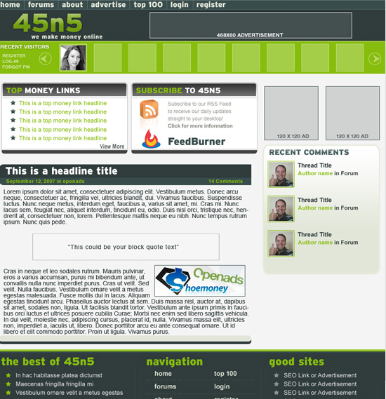 45n5 Website Design